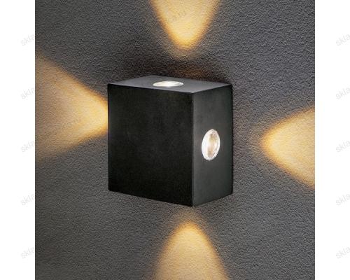 Kvatra уличный настенный светодиодный светильник 1601 TECHNO LED черный