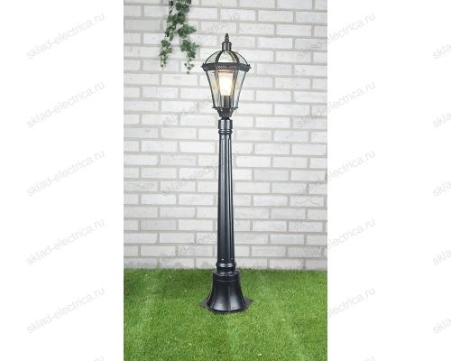 Светильник на столбе Capella F черный