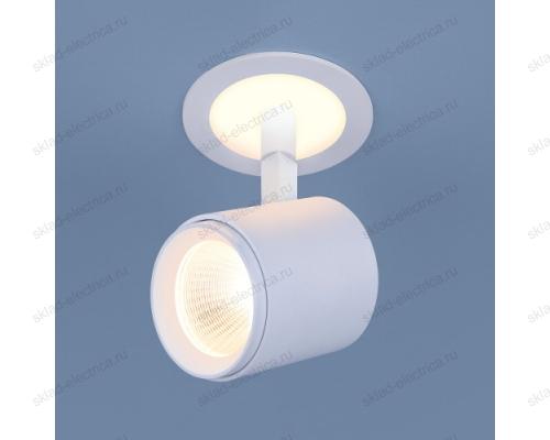 Акцентный светодиодный светильник DSR002 9W 3300K белый матовый