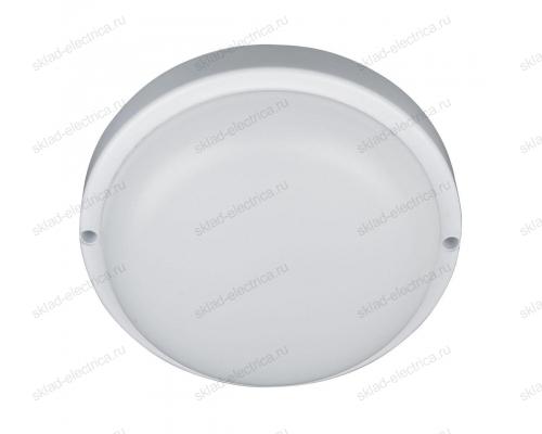 Светильник светодиодный ДБП 8 Вт IP54 круглый пластиковый белый герметичный