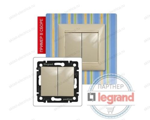Выключатель двухклавишный Legrand Valena (Сл. Кость) 774305