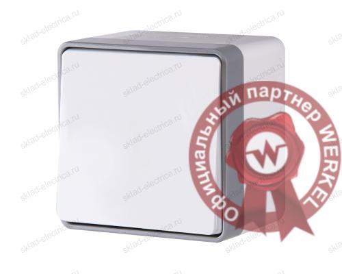 Выключатель одноклавишный влагозащищенный WL15-01-02 белый