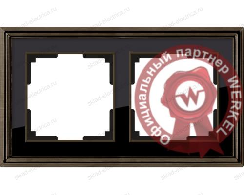 Рамка двойная Werkel Palacio бронза-черный a037688