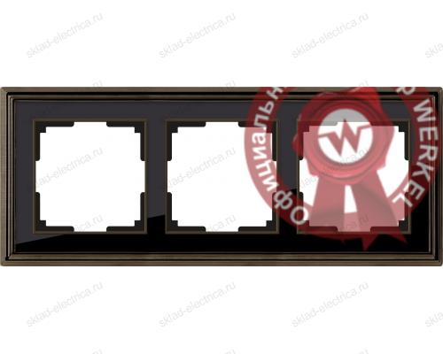 Рамка тройная Werkel Palacio бронза-черный a037689