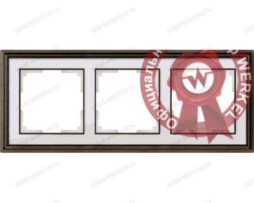 Рамка тройная Werkel Palacio бронза-белый a037684