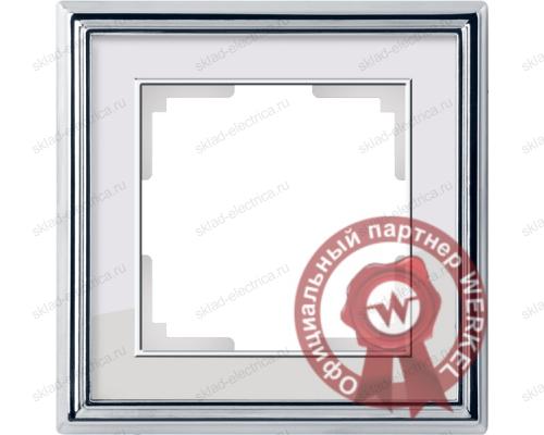 Рамка одинарная Werkel Palacio хром-белый a037692