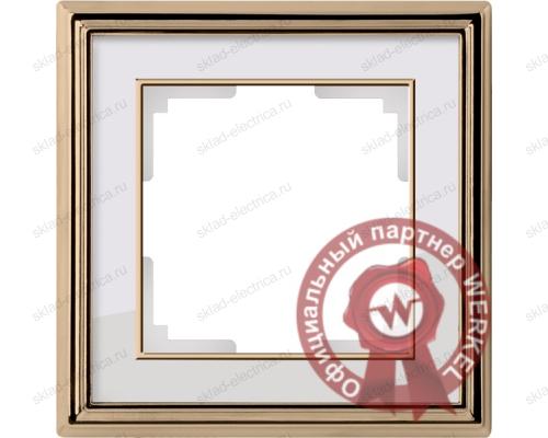 Рамка одинарная Werkel Palacio золото-белый a037677