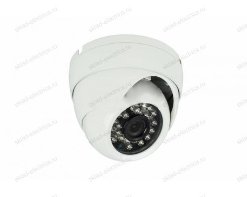 Купольная камера AHD 1.0Мп (720P), объектив 2.8 мм. , встроенный микрофон, ИК до 20 м. 45-0155
