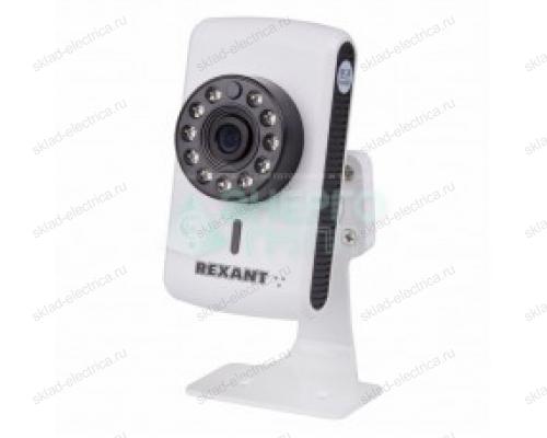 Видеокамера IP 1.0Мп (720P), объектив 2.8 мм. , ИК до 15 м. REXANT 45-0253