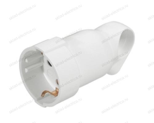 Legrand Элиум Белый Розетка 2Р+Е, 16А, кабель мах 3х.2.5, пластик 50191
