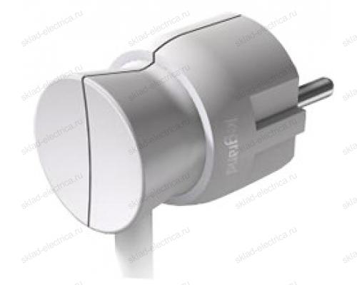 Legrand Элиум Белый Вилка 2Р+Е, 16А, нижний ввод, пластик 50188